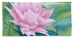 Pink Bromiliad Bath Towel