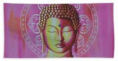 Pink Buddha Hand Towel