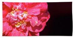 Pink Camellia  Bath Towel