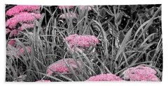 Pink Carved Cowslip Hand Towel