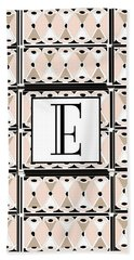 Pink Champagne Deco Monogram  E Hand Towel