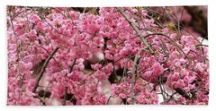 Pink Cherry Blossom Japan Arashayama Spring Holiday Diaries Bath Towel