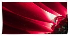 Pink Chrysanthemum Flower Petals  In Macro Canvas Close-up Hand Towel by John Williams