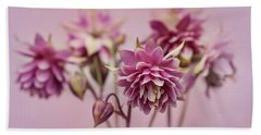 Pink Columbines Bath Towel