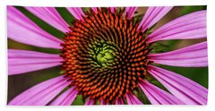Hand Towel featuring the photograph Pink Cornflower by Joann Copeland-Paul