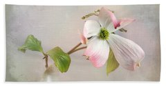 Pink Cornus Kousa Dogwood Blossom Hand Towel by Betty Denise