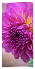 Pink Dahlia Bath Towel