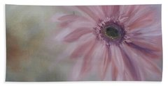 Bath Towel featuring the painting Pink Daisies by Donna Tuten