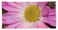 Pink Daisy Bath Towel by Nance Larson