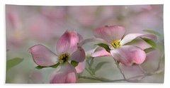 pink Dogwood 03 Bath Towel by Ann Bridges