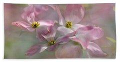 Pink Dogwood Hand Towel by Ann Bridges