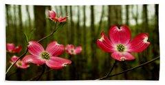 Pink Dogwood Flowers Hand Towel