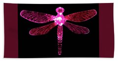 Pink Dragonfly Bath Towel
