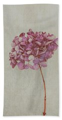 Pink Dried Hydrangea Hand Towel