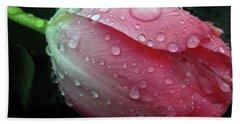 Pink Drops #2 Bath Towel by Kim Tran