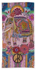 Pink Elephant Bath Towel