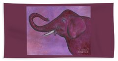 Pink Elephant Hand Towel by Nan Wright