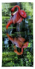 Pink Flamingo Hand Towel