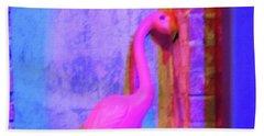 Pink Flamingo Bath Towel