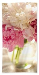 Pink Floal Hand Towel by George Robinson
