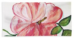 Pink Flower Hand Towel