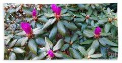 Pink Flowers, Bush Hand Towel