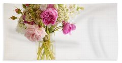 Pink Flowers Hand Towel