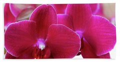 Red Orchid Bath Towel