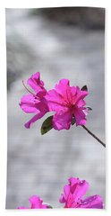 Pink Flowers Hand Towel