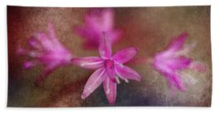 Pink Flowers Bath Towel by WB Johnston