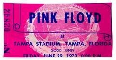 Pink Floyd Concert Ticket 1973 Hand Towel