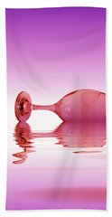Pink Glass Bath Towel by David French