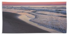 Pink Glow Seaside New Jersey 2017 Hand Towel