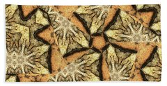 Pink Granite Abstract Bath Towel by Peter J Sucy