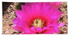 Pink Hedgehog Flower Bath Towel