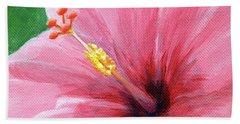 Pink Hibiscus Hand Towel