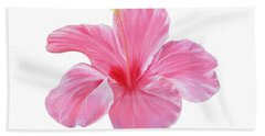 Bath Towel featuring the painting Pink Hibiscus by Elizabeth Lock