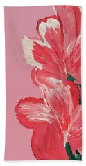 Pink Hibiscus Flowers  Hand Towel