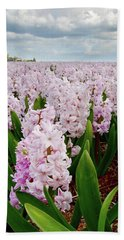 Pink Hyacinth  Hand Towel by Mihaela Pater
