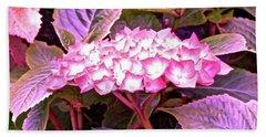 Pink Hydrangea Bath Towel by Stephanie Moore