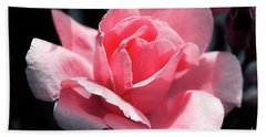 Pink In Light And Shadow Hand Towel by Rebecca Davis
