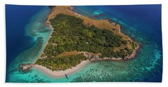 Bath Towel featuring the photograph Pink Island In Flores, Indonesia by Pradeep Raja PRINTS