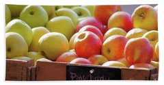 Bath Towel featuring the photograph Pink Lady Apples by John S