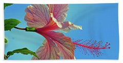 Pink Lady Hibiscus Hand Towel
