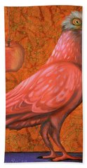 Bath Towel featuring the painting Pink Lady by Leah Saulnier The Painting Maniac