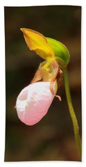 Pink Lady Slipper Hand Towel by Roupen  Baker