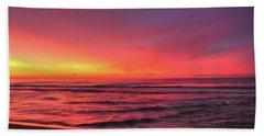 Pink Lbi Sunrise Bath Towel