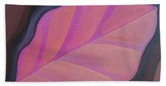 Pink Leaf Hand Towel