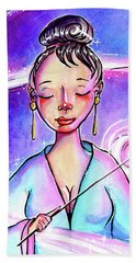 Pink Light Witch Hand Towel