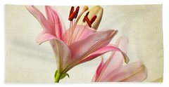 Pink Lilies Hand Towel